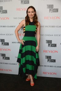 Olivia-Wilde-stunned-stripes-screening-Third-Person-NYC